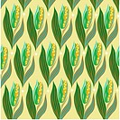 indoors, wallpaper, repetition, background, corn, design arts, pattern