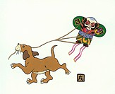 Dog With Kite