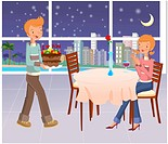 romance, cake, seasons, couple, table, love
