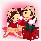 gift, children, event, school uniform, girl, child