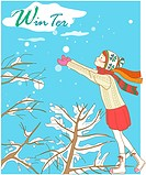 Tree, winter, snowing, snow, outdoors, hat, season (thumbnail)