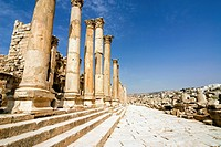 Tha Cathedral, Jerash Gerasa a Roman Decapolis city, Jordan, Middle East