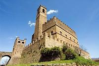 Castello di Poppi dei Conti Guidi Castle of Conti Guidi in Poppi, Casentino, Arezzo, Tuscany, Italy, Europe