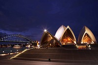 Opera House at night, Sydney, Australia