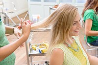 Young Women Having Her Hair Cut (thumbnail)