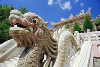 Dragon at the Long Son Pagoda, Nha Trang, Vietnam, Indochina, Asia