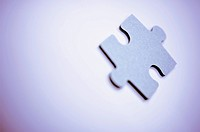 Close_up of a jigsaw piece