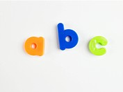 A B C' in magnetic letters close_up