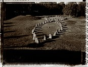 Anundshögen Gravfält I Västmanland, Juni 1996, Stone Circle Grave B/W