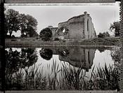 Alvastra Klosterruin, Juli 1997., Monastery Ruins By LakeB/W