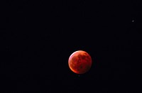24X36 FOTO: Claes Grundsten COPYRIGHT BILDHUSET, Close_Up Of Lunar Eclipse