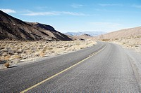 Empty highway in desert, Death Valley, California, USA