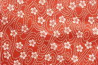 Floral Patterns On Red Cloth
