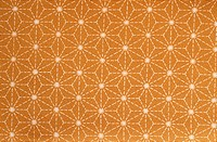 Star Pattern On Orange Fabric