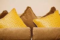 Close_up of pillows