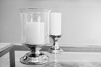 Candlestick holders on a table