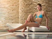 Young woman in a health spa