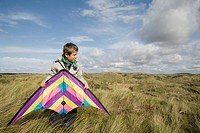 Boy with a kite
