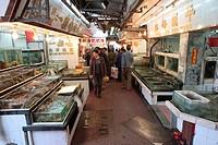 Seafood market at Lei Yu Mun, Hong Kong