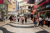 At Rua de S. Domingos Shopping Street, Macau