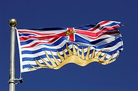 Flag of the province British Columbia, Canada