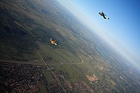 Two people skydiving, Wonderboom Airport, Pretoria, Gauteng, South Africa