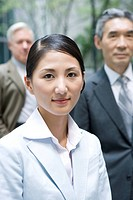 Portrait of Japanese Businesswoman, Focus on Foreground