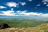 View from the Drakensberg Escarpment looking out over the Mweni Valley, Drakensberg Mountains, Mweni, Kwa_Zulu Natal, South Africa