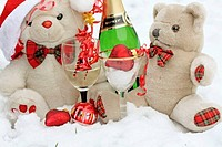 Teddy Bear White Christmas Snow Party