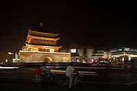 Zhonglou Bell tower at night, Xian, China