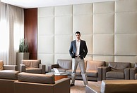 Businessman Standing in a Waiting Area