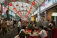 Smith Street food street in Chinatown, Singapore