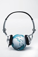 CG, Computer_Generated, globe, headphone