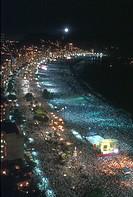 Crowd, Copacabana, Rio de Janeiro, Brazil