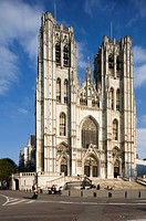 St Michael and Gudula Cathedral, Treurenberg hill, Brussels, Belgium, Cathedrale St Michel et Gudule, Gothic