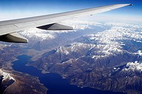 View from a plane, Alps, Lake Garda, Italy