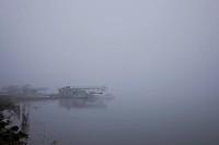 Foggy lake of south korea