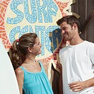 Couple at a Surf Shop