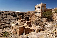 Mountain village in the jemenian mountains, Yemen
