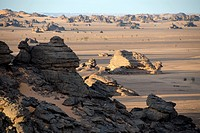 Bizarre rocks in the desert Acacus Libya