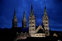 Cathedral, Bamberg, Upper Franconia, Bavaria, Germany