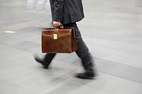 Businessman with attache case