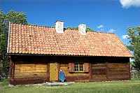 Farmhouse in the open-air museum in Bunge, Gotland, Sweden