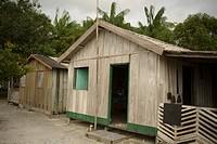 Houses, Boa Esperança Community, Cuieiras River, Amazônia, Manaus, Amazonas, Brazil