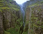 Glymur Waterfalls, the highest in Iceland, Iceland
