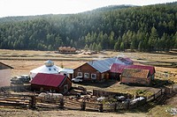 Mongolian resort and hot springs, Shiveet Mankhan Tourist camp, north central Mongolia No releases available