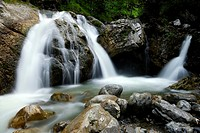 Kuhflucht Falls, Farchant, Upper Bavaria, Bavaria, Germany, Europe