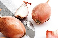 Shallots and a knife