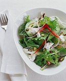 Mixed Green Salad with Goat Cheese and Pistachios