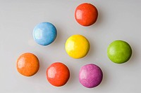 Colourful candy-coated, sugar-coated chocolates